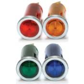 Motorsport Small Warning Light Aluminium Bezel